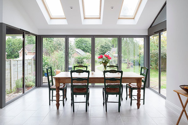 Aluminium Bi-Fold Doors Wiltshire, UK - Castlegate Windows
