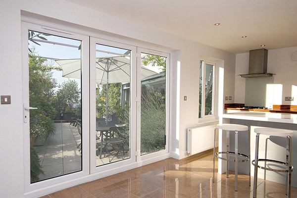 uPVC White Bi-Fold Doors Wiltshire - Castlegate Windows