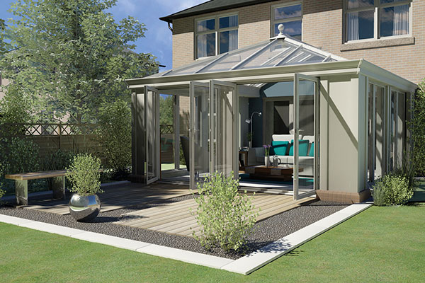 Pale Green Loggia Conservatory Wiltshire - Castlegate Windows